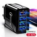 Машинка для стрижки 48 Вт Quick Charge 3,0 4,0 USB зарядное устройство для iPhone X XS 7 Samsung Huawei P20 Xiaomi QC 3,0 стенового путешествия быстрое зарядное устройство ...