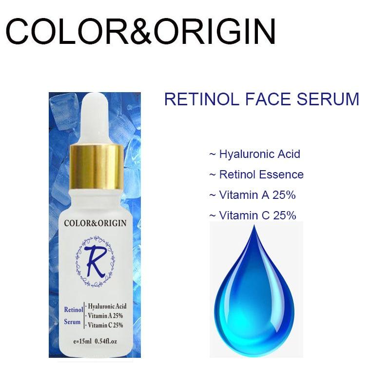 Cor & Origem Soro Rosto Retinol Puro Colágeno Ácido Hialurônico Essência Soro Facial Cuidados Com A Pele Orgânica Nutritivo Lifting Firming