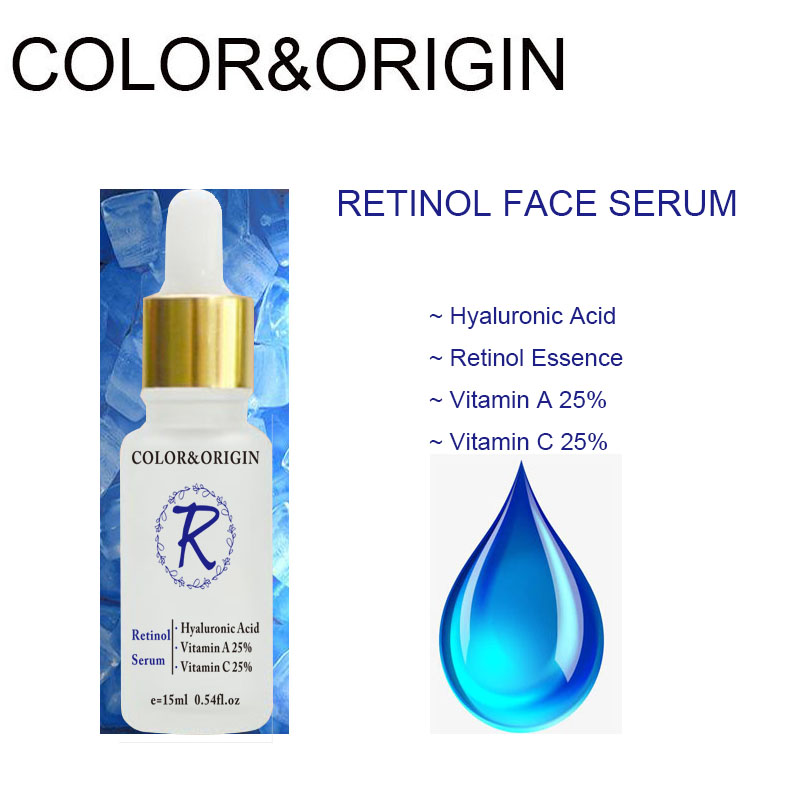 Color&Origin Retinol Face Serum Pure Hyaluronic Acid Collagen Facial Serum Essence Organic Skin Care Nourishing Lifting Firming