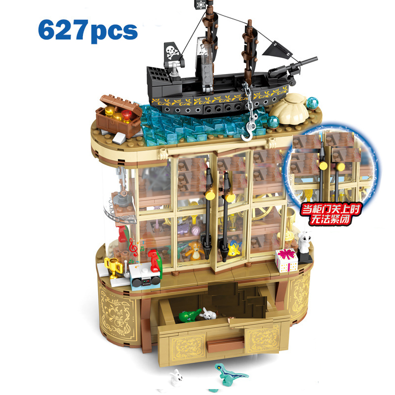 627PCS Movie Toy Storage Cabinet Display Cabinet  Friends Model Building Blocks Boy Gift  Toys