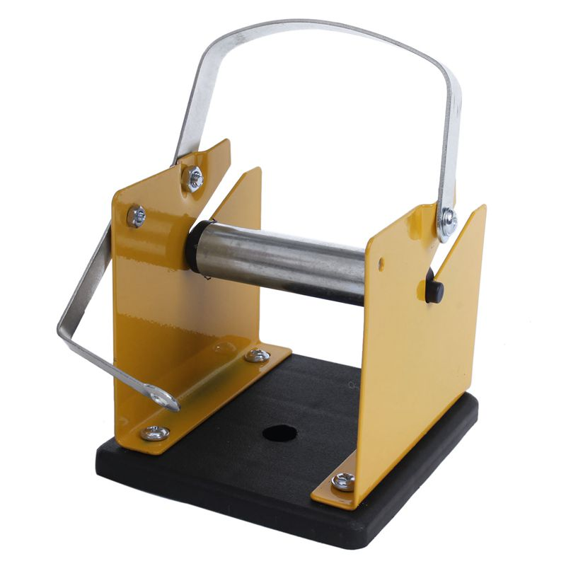 Yellow Black Metal Solder Wire Stand Holder Support