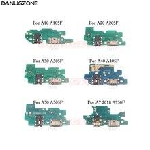 USB טעינת Dock נמל שקע שקע מחבר תשלום לוח Flex כבל עבור סמסונג A10 A105F A20 A30 A305F A50 A505F a7 2018 A750F