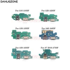 Image 1 - Usb Charging Dock Port Socket Jack Connector Charge Board Flex Kabel Voor Samsung A10 A105F A20 A30 A305F A50 A505F a7 2018 A750F