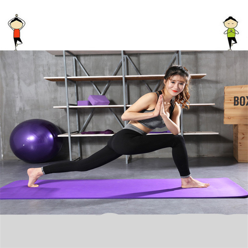 1830*610*10mm TPE Yoga Mat With Position Line Non Slip Carpet Mat For Beginner Environmental Fitness Gymnastics Mats
