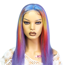 13*4*1 Transparent Lace Front Colored 100% Human Hair Wigs Lace Frontal wigs 130% 150% Density highlight wig human hair