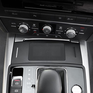 Image 3 - สำหรับ Audi A6 C7 RS6 A7 2012 2018 รถ QI ไร้สายชาร์จโทรศัพท์โทรศัพท์ผู้ถือแผ่นอุปกรณ์เสริมสำหรับ iPhone
