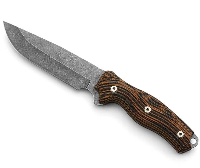 8CR13MOV פלדת ציד סכין זיוף חד טקטי ישר סכין עור מקרי SelfDefense Survial טיפוס רכיבה קמפינג