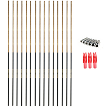 Archery Carbon Arrow Shafts 340 400 500 600 Spine with Accessories For Hunting Shooting 29 31 inch Pear Wood Design 6 Pack