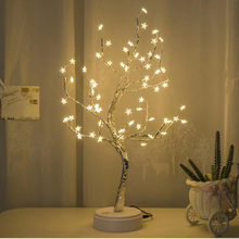 White LED With 60 White Star christmas party Table Lamp For Home Decoration Wedding Bedroom Party Indoor Lighting high quality(China)
