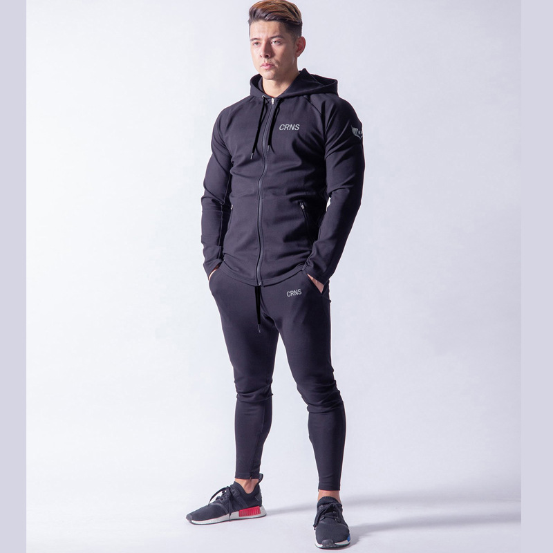 FRMARO Winter Sport Suits Men Hoodies Sets M-2XL Fashion Stitching Mens Gym Sportswear Running Jogging Suit Male Tracksuit
