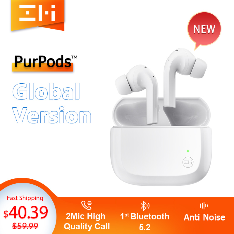 Глобальная версия ZMI PurPods True Беспроводной наушники во всем мире 1st Bluetooth 5,2 2Mic анти Шум Водонепроницаемый в ухо спортивные наушники
