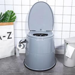 Silla de baño portátil para ancianos, inodoro estable de alta resistencia para niños discapacitados, mujeres embarazadas, hogar adulto, ancianos