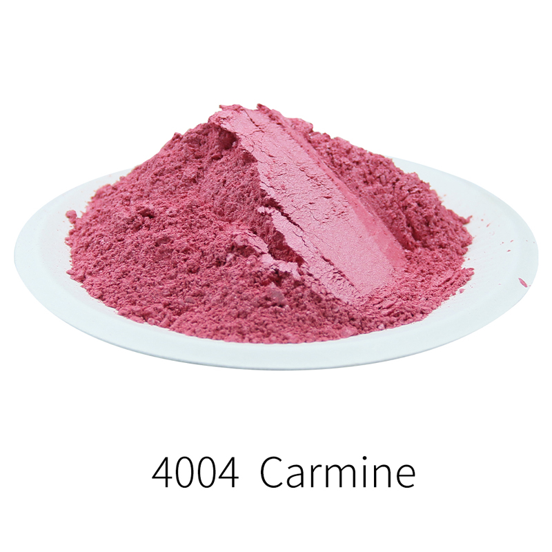 Carmine Pearl Powder Pigment Mineral Mica Powder DIY Dye Colorant For Nail Soap Automotive Art Crafts 50g Red Series Mica Powder