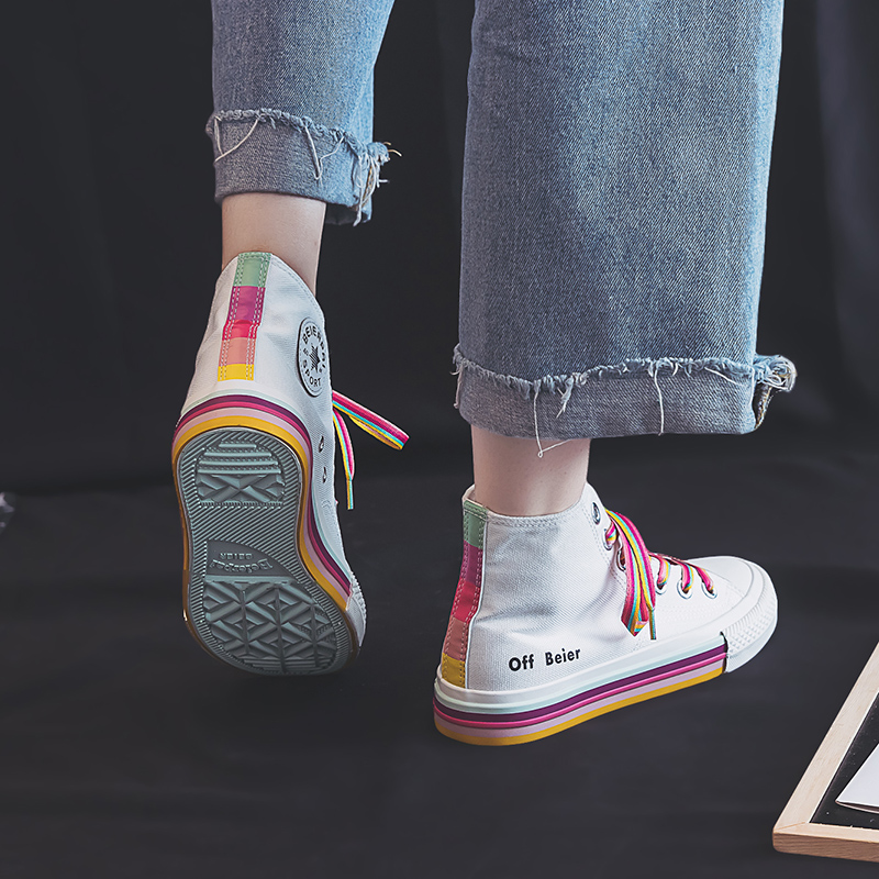 Girls Rainbow Sneakers 7