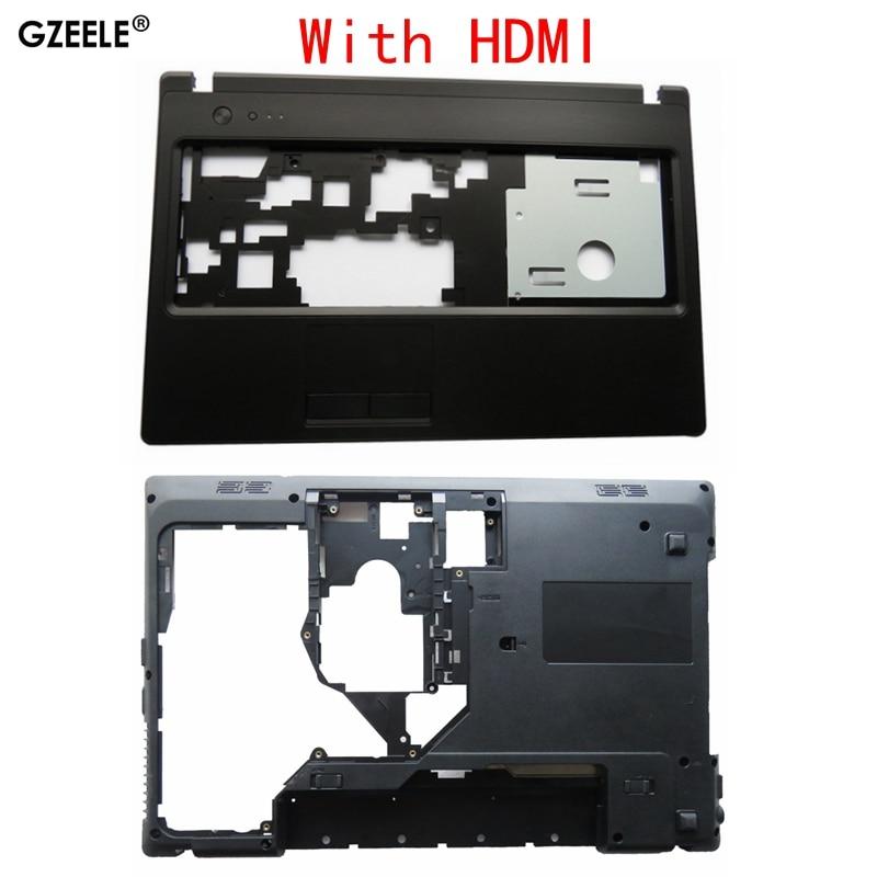 GZEELE New SHELL For Lenovo G570 G575 G575GX G575AX Bottom Case Cover & Palmrest Cover Upper Case With HDMI