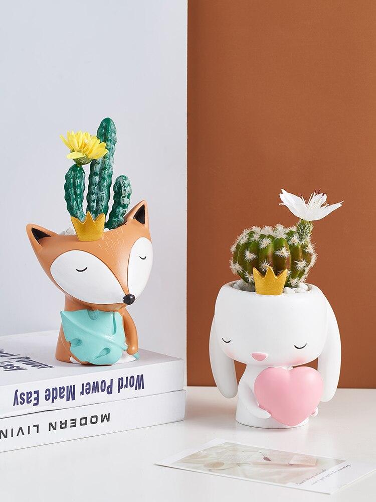 Скандинавские креативные маленькие животные цветочный горшок