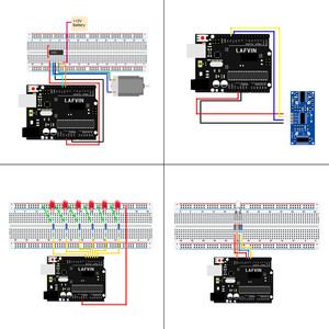 Image 4 - LAFVIN Basic Starter Kit include Ultrasonic Sensor,Jumper Wire for Arduino for UNO with Tutorial