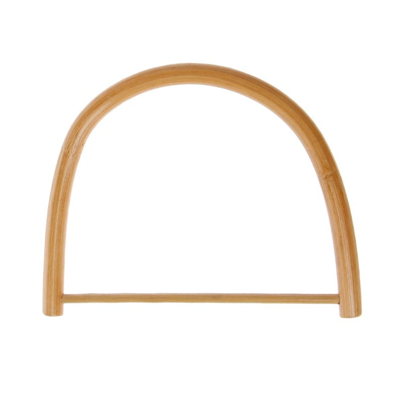 D Shape Wooden Handle For Handmade Handbag DIY Tote Purse Frame Making Bag Hanger A69C