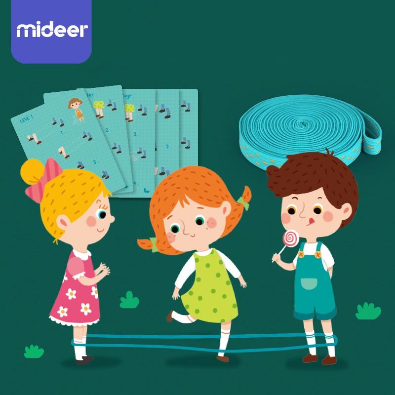 Classique enfants en plein air saut jeu élastique en caoutchouc corde à sauter jouets pour enfants en dehors du parti Sport famille coopération jouet éducatif