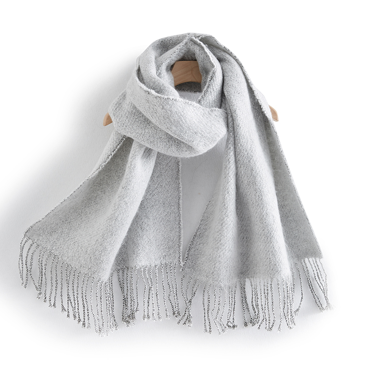 Autumn Winter New Fashion Korean Warm Skin Solid Color Knitted Scarf with leisure Style Shawl Women's Bandana Scarf Women 2021