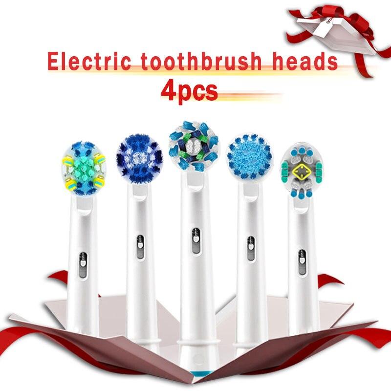 Têtes de brosse à dents Oral B pour brosse électrique Oral B vitalité Action croisée avance Triumph 3D Excel têtes remplaçables recharges 4 pièces