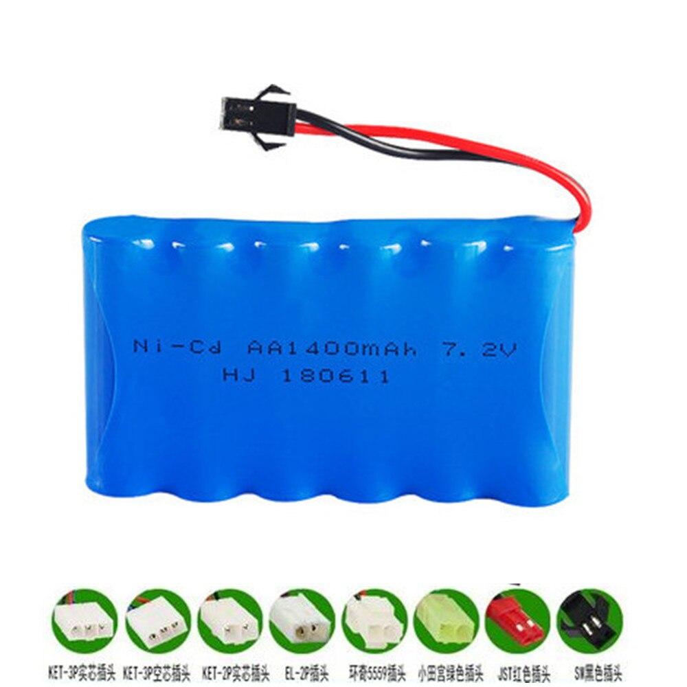 7.2v 1400mAh AA Ni-CD Rechargeable Battery For RC Toys Cars Boat Guns RC Parts 7.2 V Nicd Aa 1400 Mah Battery