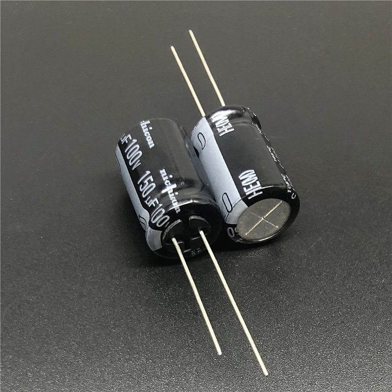 5pcs <font><b>150uF</b></font> <font><b>100V</b></font> NICHICON HE Series 12.5x20mm Super Low Impdance 100V150uF Aluminum Electrolytic Capacitor image