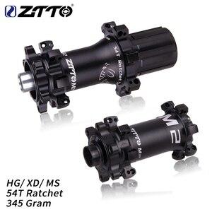 ZTTO M2 MTB Straightpull Hub Ultralight 28 Hole 54T Ratchet HG XD Micro spline Core fit 12 speed Thru Axle QR 28h Bicycle Hub