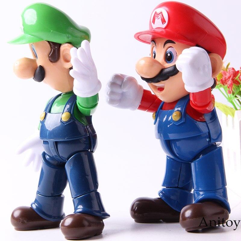 Mario Bros Figure Action Luigi Mario Doll Collection Model Toys 1