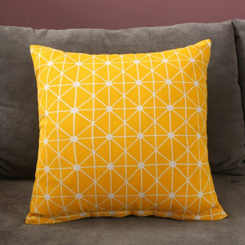 Yellow Striped pillowcase Cushion Decorative pillows for sofa plaid Chair cushion cover Throw Cushions home decor