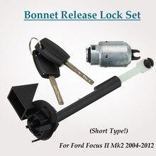 รถBonnet Hood Releaseล็อคชุดW/2 ปุ่ม 4M5AA16B970ABสำหรับฟอร์ดโฟกัสII Mk2 2004 2012