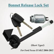 Car Bonnet Hood Release Lock Set w/2 Keys 4M5AA16B970AB for Ford for Focus II Mk2 2004 2012