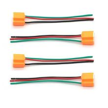Car-Lampholder Socket Wiring-Headlight-Connector with 3-Pin Flasher 4PCS Outlet Ceramic