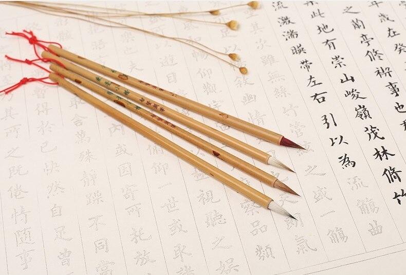 cabelo escrita escovas claborate-sty escova pássaro scriptliner canetas paperlaria