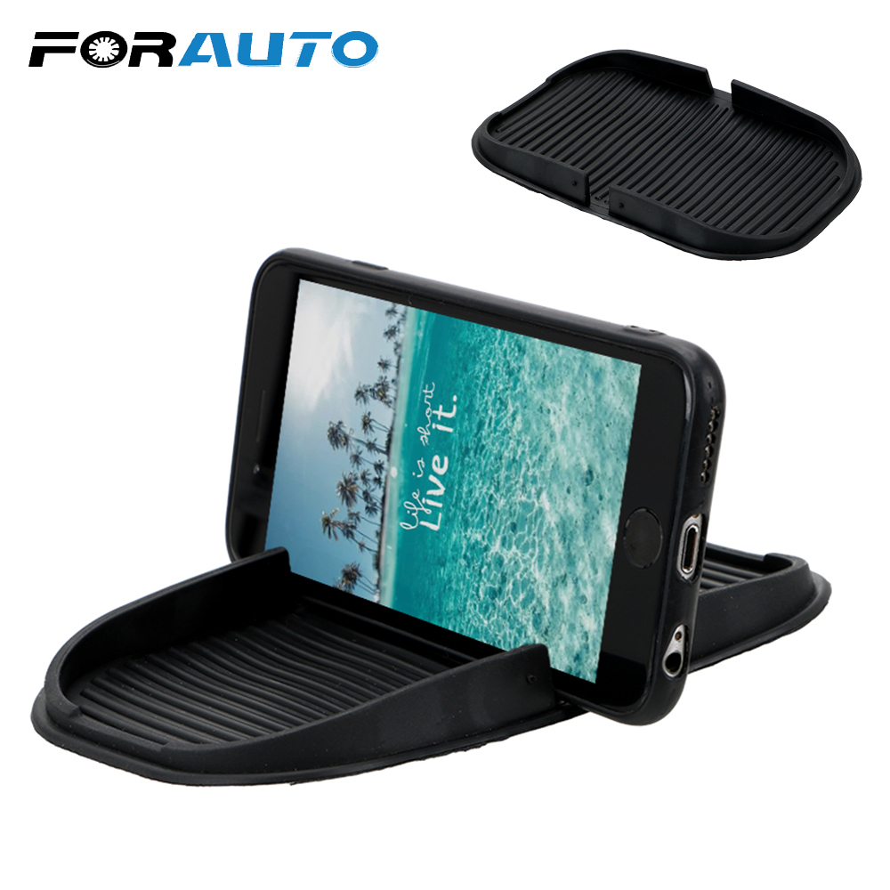 FORAUTO Car Dashboard Cell Phone Holder GPS Display Bracket Storage Mat Multifunction Mobile Phone Holder Interior Accessories