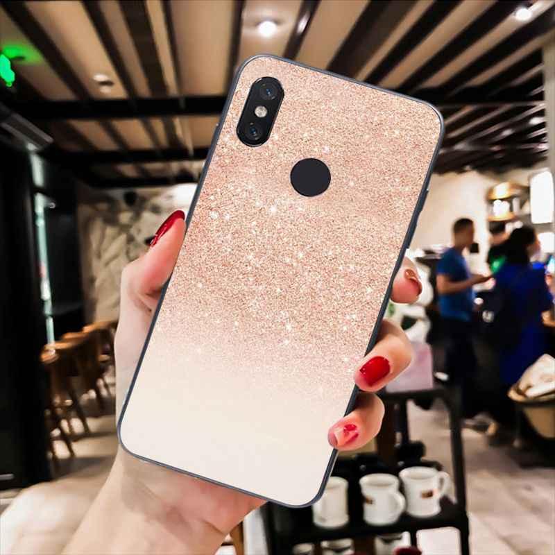 Babaite Vàng Hồng Hoa Hồng Lấp Lánh Ốp Lưng Điện Thoại Xiaomi Mi5 6 A1 A2 Lite Mi9 9SE Mi8lite F1 Mix2 2S Max2 3