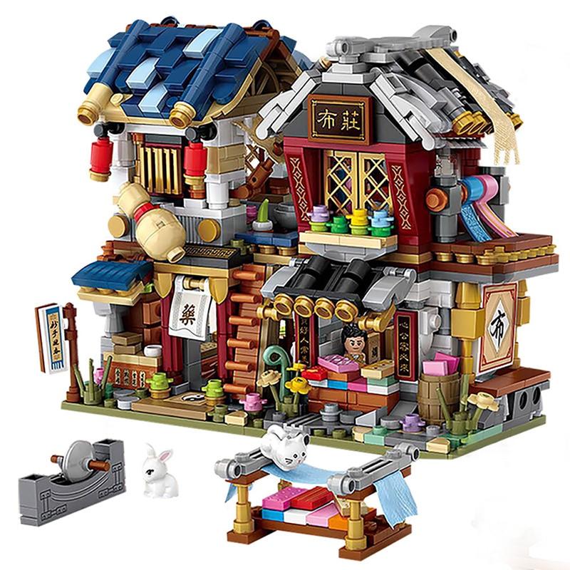 Loz Mini Building Blocks Chinese Street World Famous Architecture Series City Building Block Classic Toys Brick Model House Gift