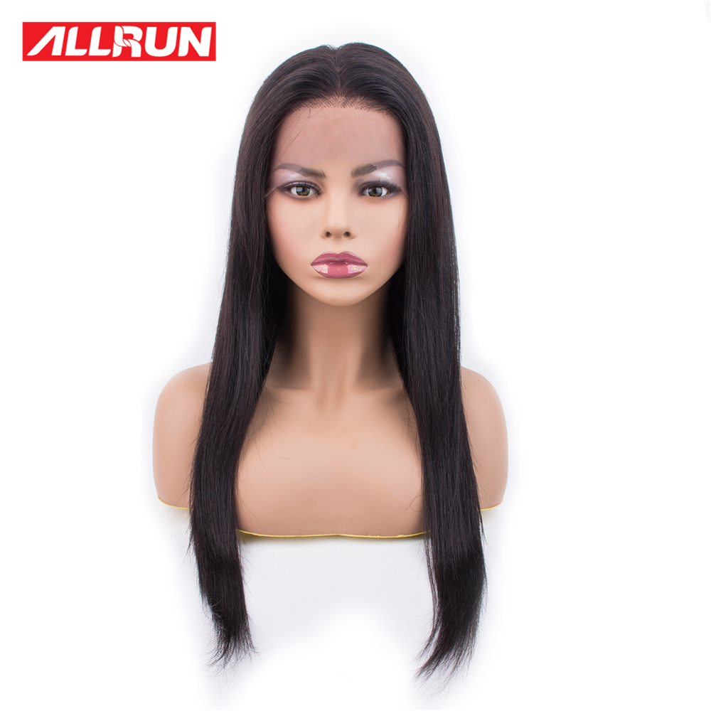 ALLRUN 13x4 Lace Front Human Hair Wigs Brazilian Remy Glueless Wig Per Plucked Natural HairLine Lace Front Wig With Baby Hair