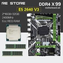 HUANANZHI X99 набор материнских плат с Ксеон E5 2640 V3 2 шт. 16 ГБ = 32 Гб 2400 МГц DDR4 память ECC Reg