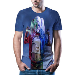 New in 2020! Fashionable and good-looking female clown short sleeve, popular 3D informal summer T-shirt, men's 3D printing, Asia
