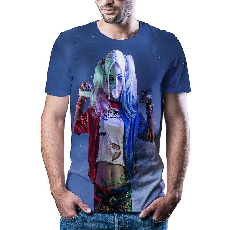 Novo em 2020! Elegante e de boa aparência feminino palhaço manga curta, popular 3d informal verão camiseta, impressão 3d masculina, ásia