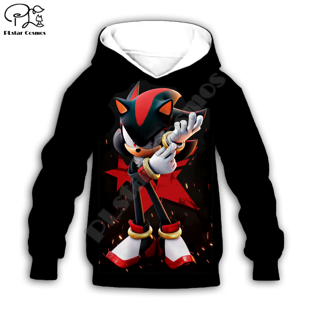 Kids Set Super Sonic Print Baby Girl 3d Hoodies Cartoon The Hedgehog Sweatshirt Coat Streetwear Boys Children Cloth Tshirt Pants