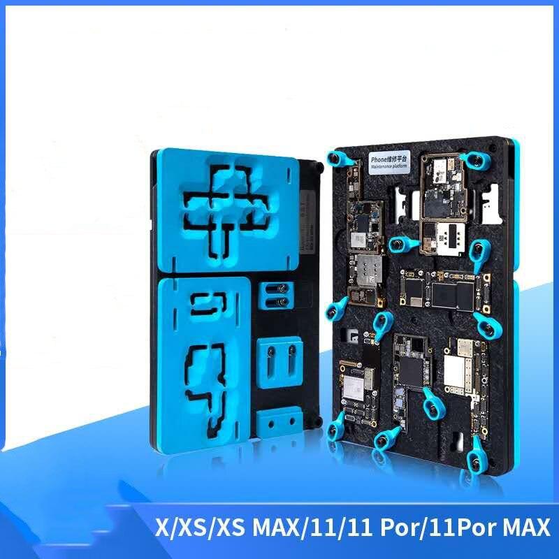 Qianli 6 in 1 Middle Frame Reballing Platform for iphone X XS MAX 11 11Pro ProMax Desoldering Holder Motherboard Repair Fixture