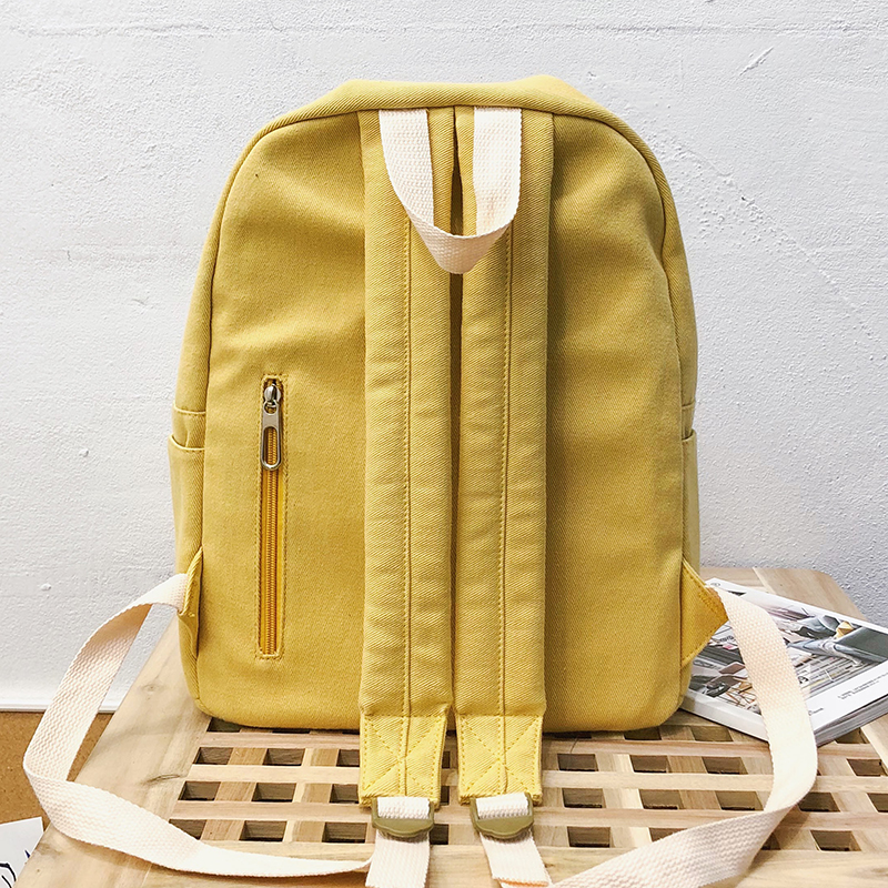 Image 5 - JOYPESSIE Fashion Korean Simple Cotton Backpack for Teenagers Travel Bagpack Male/Female School Backpack Stachels Rucksack-in Backpacks from Luggage & Bags