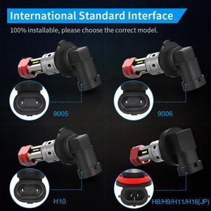Image 5 - ナオH11 led HB4 フォグライトH8 HB3 H10 8 ワット 2000Lm自動H16 9005 9006 ブラブ 4SMD 1860 チップホワイトアンバー車の運転日ランニングランプ