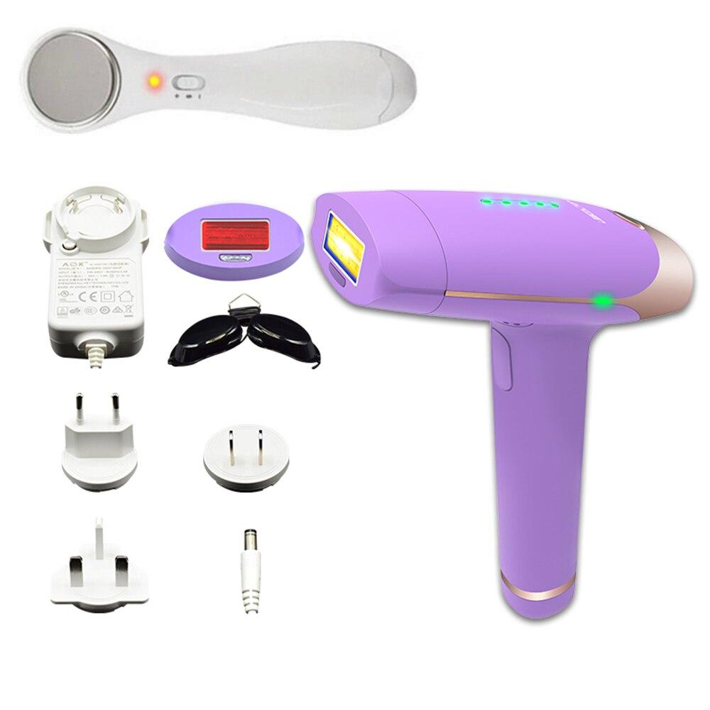 Machine d'épilation au Laser avec ensemble d'instruments de beauté portables épilateur Laser indolore et Kit d'appareils Anti-âge pour la peau du visage