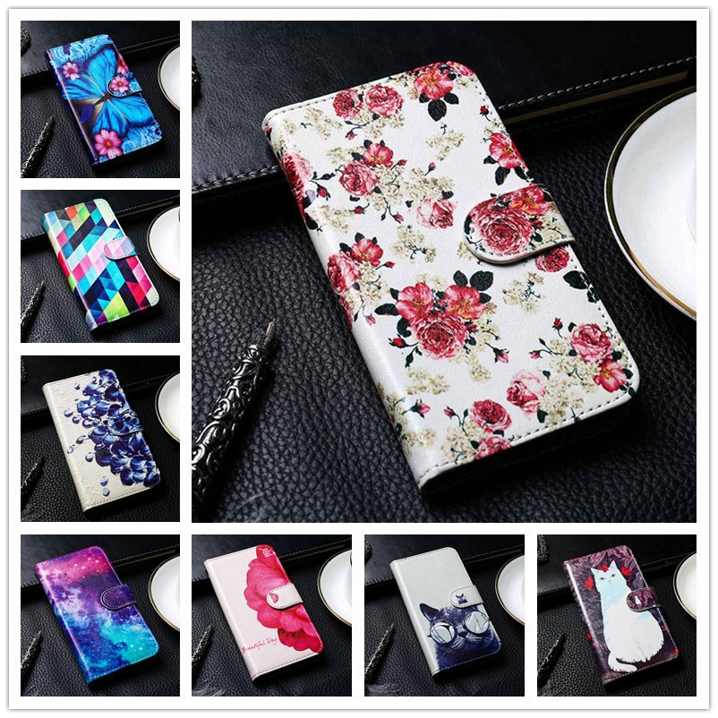Painted PU Leather <font><b>Case</b></font> For <font><b>Oukitel</b></font> C12 C15 C16 C17 K10000 <font><b>Pro</b></font> <font><b>Case</b></font> Flip Wallet Cover <font><b>Oukitel</b></font> C8 <font><b>K13</b></font> U15 U16 Max Phone Bumper image