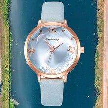 Женские Классические кварцевые наручные часы с кожаным ремешком