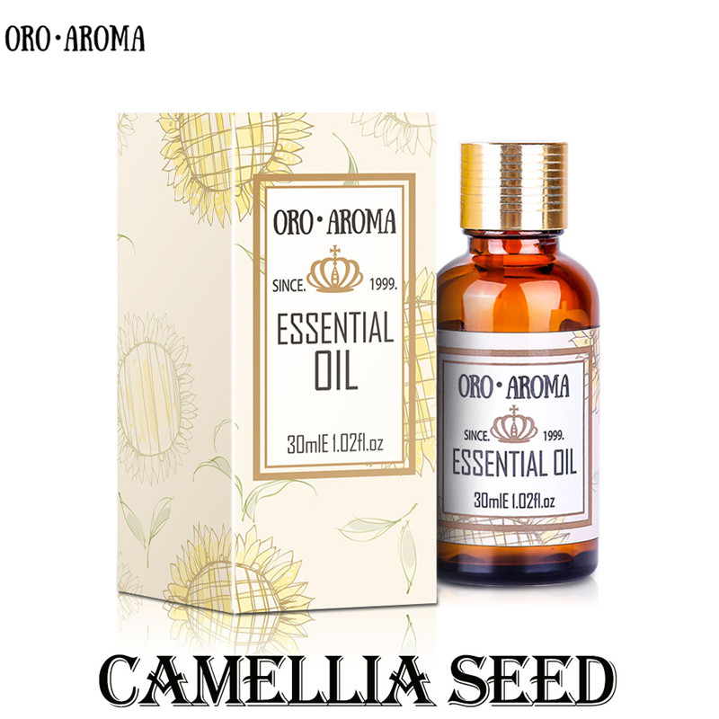 Famous brand oroaroma camellia seeds oil beauty in eliminating stretch marks shiny skin beneficial for women kid children