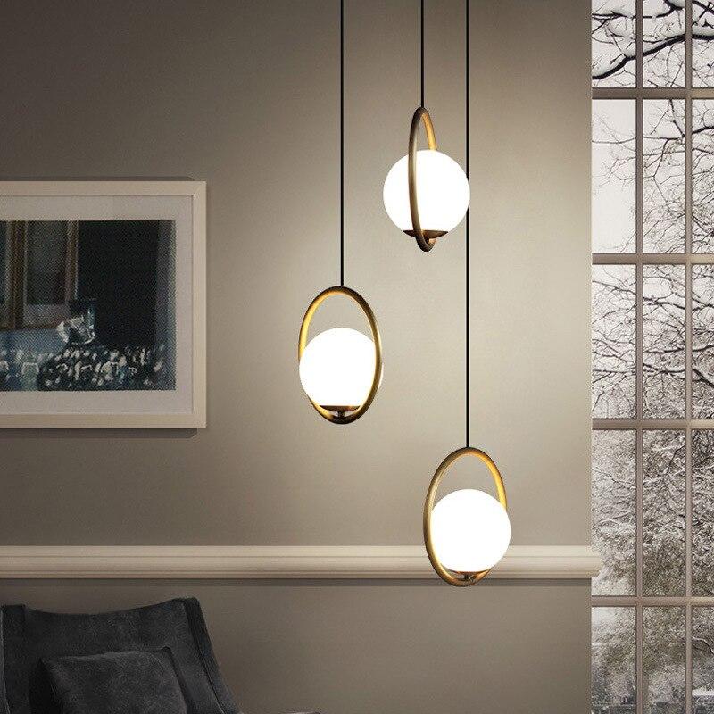 nordic luminaire suspendu hanglamp crystal bedroom  restaurant   hanging lamp luminaria pendente pendant lights